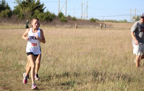 Maddie Bryant runs in the AV-CTL race last year. Bryant is one of the key returning runners for the girls program, which received ranking votes in 4A.