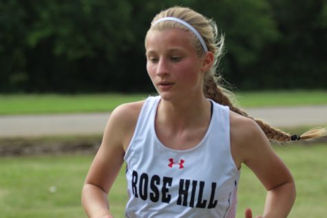 Aubrie Thomison took second at the Mulvane Invitational on Monday, September 10. The girls cross country team won the team event.