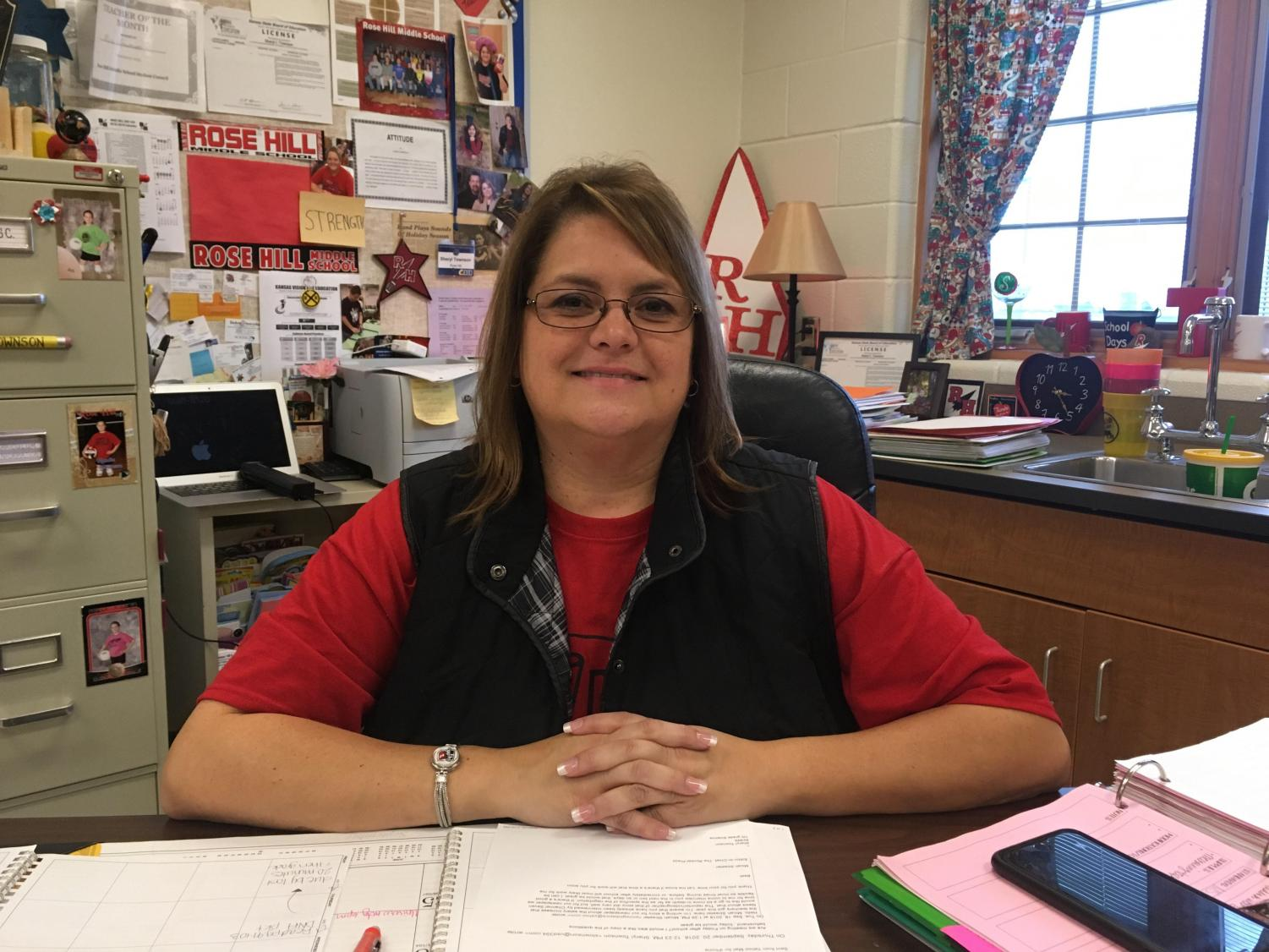 Middle School Science Teacher Sheryl Townson is a member of the negotiating team that negotiated a 5.6 percent raise for the teachers in the district. It was the first substantial raise in 20 years.