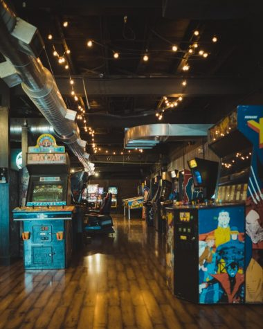 Arcades were part of the video game boom in the 1970s and 1980s. Consoles that can be played in homes did not come along until later inthe 1980s.